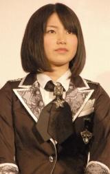 映画『DOCUMENTARY of AKB48 to be continued 10年後、少女たちは今の自分になにを思うのだろう?』初日舞台あいさつに出席した横山由依 (C)ORICON DD inc.