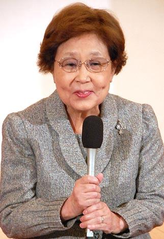 林家三平と国分佐智子の婚約発表会見に出席した、母・海老名香葉子 (C)ORICON DD inc.