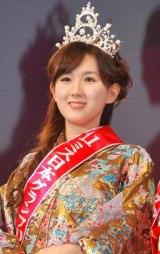 『2011年度ミス日本』グランプリに選ばれた、慶應義塾大学の谷中麻里衣さん (C)ORICON DD inc.