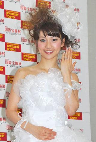 サムネイル 『第5回 ブライダルジュエリー プリンセス』を受賞したAKB48の大島優子 (C)ORICON DD inc.