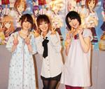 女性キャストの3人。左から花澤香菜、日笠陽子、仲谷明香(C)ORICON DD inc.