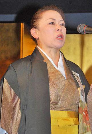 WAHAHA本舗全体公演『ワハハの力』のプレイベントに参加した柴田理恵 (C)ORICON DD inc.