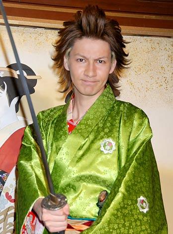 PS3専用ゲーム『侍道4』記者発表会に侍衣装で出席したJOY (C)ORICON DD inc.