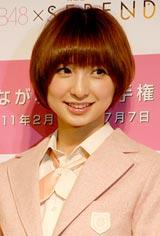 会見を途中退席したAKB48・篠田麻里子 (C)ORICON DD inc.
