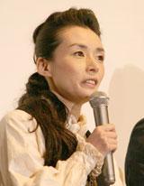 映画「太平洋の奇跡−フォックスと呼ばれた男−」初日舞台あいさつに登壇した中嶋朋子(C)ORICON DD inc.