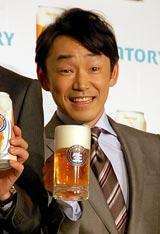 サントリーの新ジャンル飲料『ジョッキ生』新CM発表会に出席した石井正則