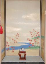 初の床の間に描かれた撫子(C)ORICON DD inc.