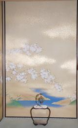 江の床の間に描かれた桜(C)ORICON DD inc.