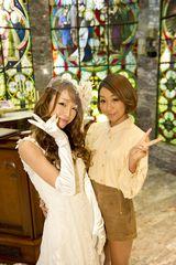 木下優樹菜(左)のために結婚ソングを書き下ろした青山テルマ(右)