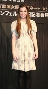 映画『トゥルー・グリット』で映画デビューを飾るヘイリー・スタインフェルドが初来日 (C)ORICON DD inc.