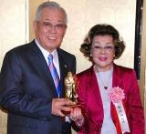 『2010孔子文化賞』授賞式に出席した野村克也&沙知代夫妻 (C)ORICON DD inc.