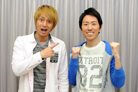 冠番組『冒険チュートリアル』の収録に復帰し、久しぶりに2人揃ったチュートリアル(左から、徳井義実、福田充徳)
