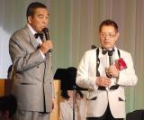 加藤茶(右)のデビュー50周年記念パーティーで司会を務めた小野ヤスシ (C)ORICON DD inc.