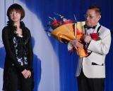 愛娘・加藤文代がサプライズで花束を贈呈 (C)ORICON DD inc.
