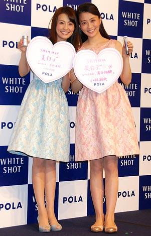 ポーラ『ホワイトショット』でCM初共演する小林麻耶(左)&麻央姉妹 (C)ORICON DD inc.