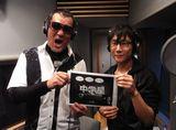 『中学星』で先生役の声を担当した蝶野正洋(左)と作者・清水誠一郎氏