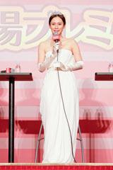 映画『阪急電車 片道15分の奇跡』劇中衣装の純白のドレスで登壇した中谷美紀