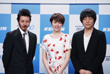 『ケイリン2011』の新CMに出演するオダギリジョー、長澤まさみ、大森南朋(左から)