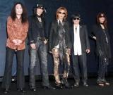 X JAPAN(左からPATA、HEATH、YOSHIKI、TOSHI、SUGIZO)