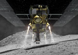 小惑星・イトカワに到達し、地表サンプル採取を行った『はやぶさ』 (C)有限会社ライブ