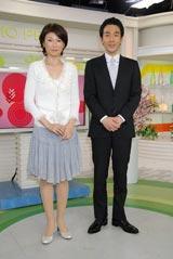 『スタジオパークからこんにちは』の新キャスター会見に登場した青山アナと近田アナ (C) ORICON DD inc.