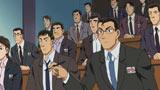 宮根アナの声は冒頭の記者会見シーンで登場する (C)2011 青山剛昌/名探偵コナン製作委員会