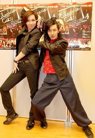米・ニューヨークのダンサー集団『THE MOVEMENT』の日本初上陸公演前に報道陣のインタビューに応じたTAKAHIRO&湖月わたる (C)ORICON DD inc.