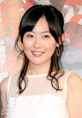 BS時代劇『新選組血風録』の会見に出席した前田亜季