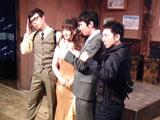 当日に行われた会見の模様(写真は左から)IZAM、平田弥里、白石朋也、野沢トオル
