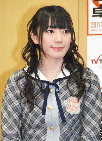 テレビ東京『世界卓球2011ロッテルダム』でサポーターを務めるAKB48の松井咲子 (C)ORICON DD inc.