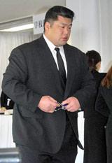 田中好子さん告別式に参列した元武双山・藤島親方