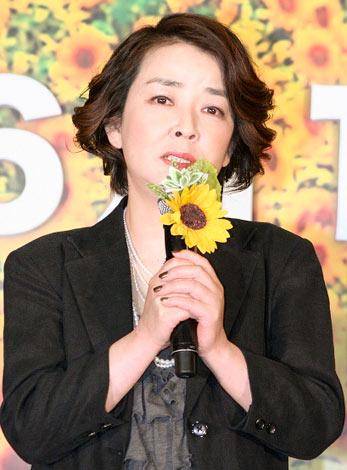 映画『星守る犬』の完成披露会見に出席した岸本加世子 (C)ORICON DD inc.
