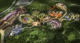 年、中国浙江省安吉県に完成する「ハローキティパーク(仮称)」全景イメージ図