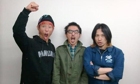 Hi-STANDARD(左から難波章浩、恒岡章、横山健)