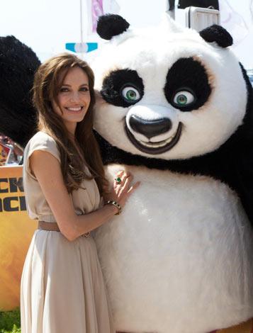 『カンフー・パンダ2』の声優を務めたアンジェリーナ・ジョリー