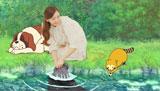 ラスカルと共に洗濯を楽しむ新垣(1)(C)NIPPON ANIMATION CO.,LTD