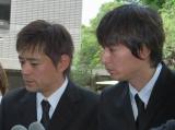 児玉清さん告別式に参列した博多華丸・大吉 (C)ORICON DD inc.