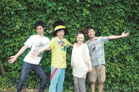 左からNAOTO(オレンジレンジ)、CHI-MEY、金城綾乃(Kiroro)、HIROKI(オレンジレンジ)