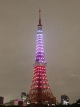 """""""ロータスカラー""""に染められた東京タワー"""