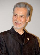 ゲキ×シネ『薔薇とサムライ』完成披露試写会前の舞台あいさつに登壇した藤木孝
