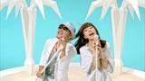 Chage&リイサとして『ミスタードーナツ』の新CMに出演するChage(左)と仲里依紗(右)