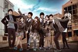 『ドリームハイ』(左から)オム・ギジュン、ウンジョン(T-ara)、テギョン(2PM)、ペ・スジ(miss A)、キム・スヒョン、IU、ウヨン(2PM)、イ・ユンジ (C)Licensed by KBS Media Ltd. (C) 2011 KBS. All rights reserved.