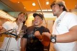 復興支援ソングのレコーディングを行った(左から)棚橋弘至、杉浦貴、諏訪魔 (C)ORICON DD inc.