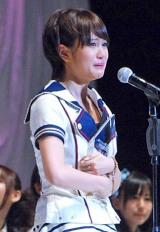『第3回AKB48選抜総選挙』開票イベント、首位に返り咲き号泣する前田敦子 (C)ORICON DD inc.