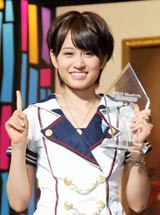 『第3回AKB48選抜総選挙』で首位に輝いた前田敦子