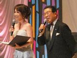 『第3回AKB48選抜総選挙』で司会を務めた(左から)木佐彩子、徳光和夫 (C)ORICON DD inc.