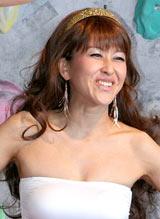 映画『127時間』のPRイベントにハイレグ姿で登場した岡本夏生 (C)ORICON DD inc.