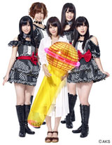 『JOYSOUND×UGA「うたスキ動画」』のイメージキャラクターを務めるAKB48の(左から)指原莉乃、大家志津香、前田敦子、小森美果、宮崎美穂