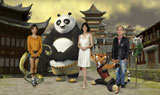 映画『カンフー・パンダ2』吹替声優が再集結(左から)MEGUMI、木村佳乃、笹野高史 KUNG FU PANDA 2TM & (C) 2011 DreamWorks Animation LLC. All Rights Reserved.