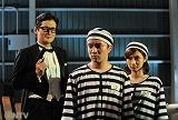 異色のミステリー作に挑む(左から)陣内孝則、濱田岳、平愛梨